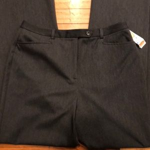 NWT TALBOTS GRAY STRETCH TROUSERS